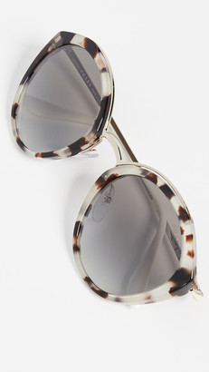 Prada PR 18US Oval Sunglasses