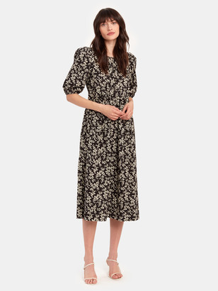 The Great The Ravine Puff Sleeve Midi Dress