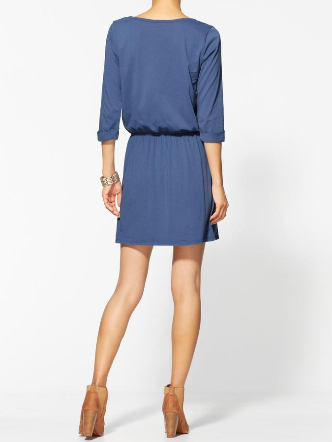 LAmade Elbow Sleeve Shirt Dress