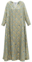 Thierry Colson Samia Silk Floral-brocade Dress - Womens - Blue