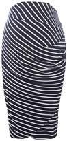 Dorothy Perkins **Maternity Navy Stripe Underbump Pencil Skirt