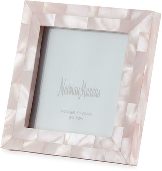 """Mother of Pearl The Jws Collections Mother-of-Pearl Picture Frame, Pink, 3.5"""" x 3.5"""""""