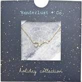 Wanderlust + Co Leo Cosmic Necklace in