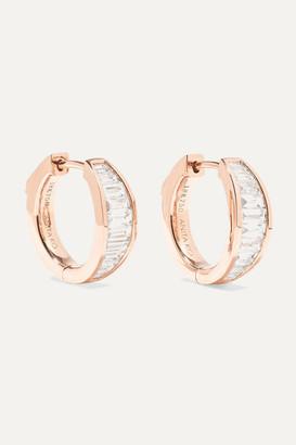 Anita Ko Huggies 18-karat Rose Gold Diamond Earrings - one size