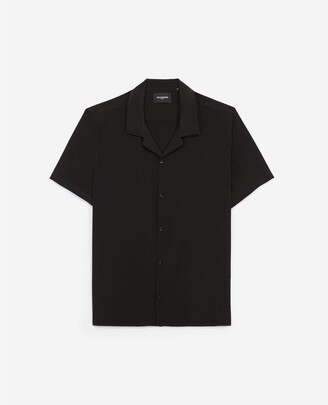 The Kooples Black silk shirt with short sleeves