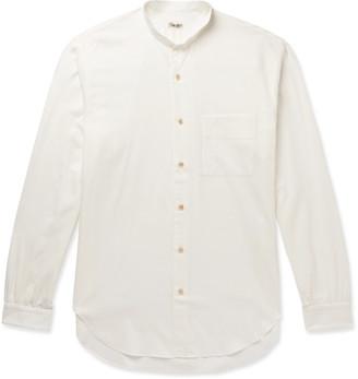 Camoshita Grandad-Collar Cotton Shirt