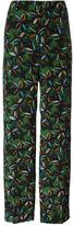 Agnona floral print trousers - women - Silk/Cupro - 40