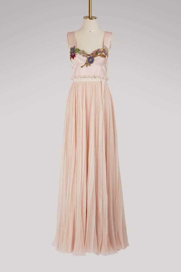 Alexander McQueen Silk maxi dress