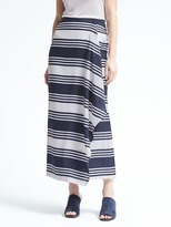 Banana Republic Stripe Cascade Maxi Skirt
