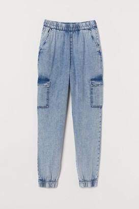H&M Denim Cargo Pants - Blue