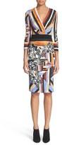 Just Cavalli Women's 'Delaunay' Print Sheath Dress