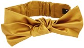 Paule Ka Gold Bow-embellished Satin Belt