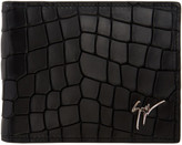 Giuseppe Zanotti Black Croc-embossed Zayn Wallet