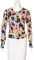 Paul Smith Cashmere Floral Print Cardigan