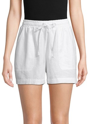 Pure Navy Drawstring Linen Shorts