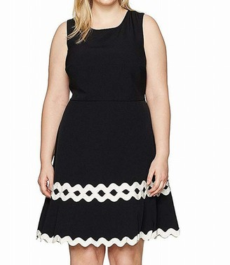 Julia Jordan Women's Plus Size One Piece Sleeveless Sheath with Ivory at Trim