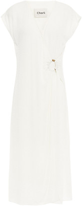 Charli Wrap-effect Fil Coupe Gauze Midi Dress