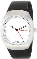 Alessi Unisex Automatic Watch with White Dial Analogue Display and Silver Plastic or PU Bracelet AL21000