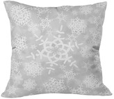 "DENY Designs Snow Flurries in Gray Throw Pillow - Silver (20"" x 20"