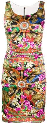 Dolce & Gabbana Mixed-Print Sleeveless Dress