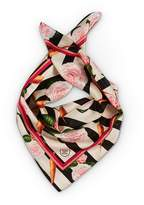 Texas and the Artichoke - Large Carrots & Roses Silk Without Borders Scarf