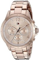 Tommy Hilfiger Women's 1781642 Dani Analog Display Japanese Quartz Rose Gold Watch