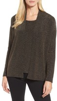 Chaus Women's Metallic Dolman Sleeve Cardigan