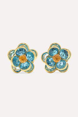 Guita M - 18-karat Gold, Topaz And Citrine Earrings