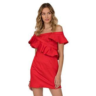 Stitch and Foley Ruffled One Shoulder Dress Long Sleeves (