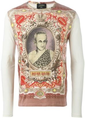 Jean Paul Gaultier Pre Owned 'JPG' printed top