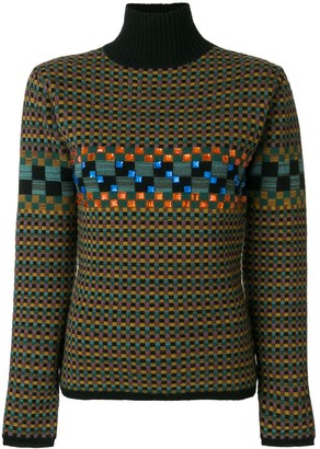Jean Paul Gaultier Pre-Owned square pattern knit jumper