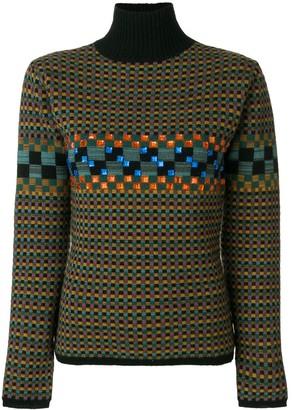 Jean Paul Gaultier Pre-Owned square pattern knit jumper