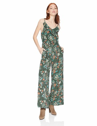 Angie Women's Spaghetti Strap Jumpsuit with Ruffle