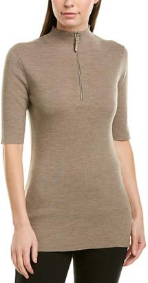 Lafayette 148 New York Skinny Rib Wool Pullover