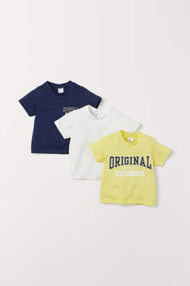 H&M 3-pack T-shirts - Yellow