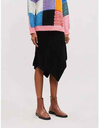 Designers Remix Irene stretch-wool-blend midi skirt