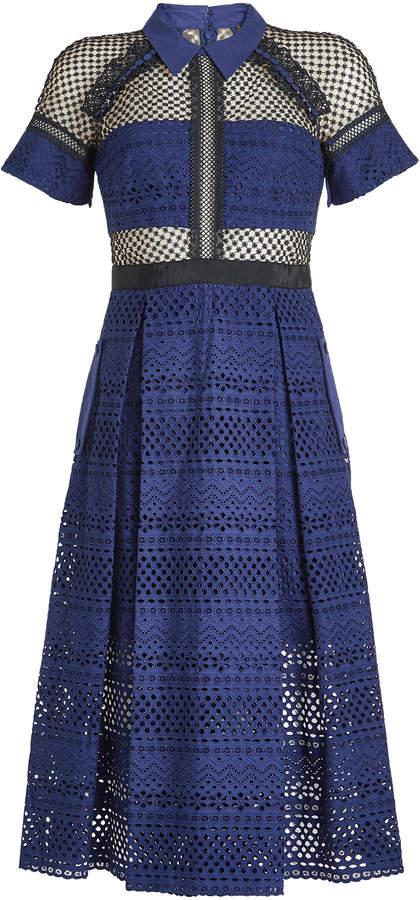 Self-Portrait Lace Dress with Cotton