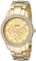 XOXO Women's XO5475 Rhinestone-Accented -Tone Bracelet Watch