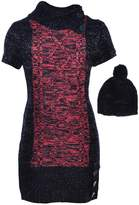 Dollhouse Big Girls' Sweater Dress with Beanie - , 10-12