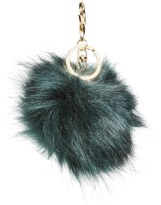 BP Women's Faux Fur Pom Bag Charm - Blue/green