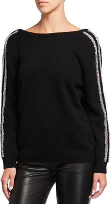 BA&SH Delhia Embellished V-Back Sweater
