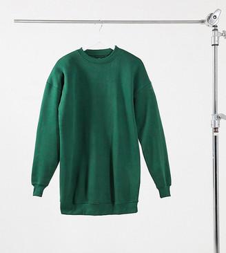 Daisy Street oversized sweatshirt dress in green