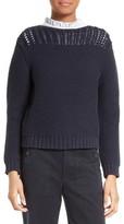 Rebecca Taylor Women's Mixed Stitch Pullover
