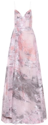 Alex Perry Lauren metallic organza gown