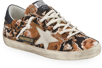 Golden Goose Superstar Snake Calf Hair Sneakers