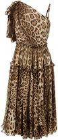 Dolce & Gabbana leopard print shift dress - women - Silk/Cotton/Polyamide/Spandex/Elastane - 42
