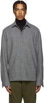 Haider Ackermann Grey Wool Houndstooth Shirt