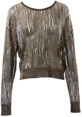 Saint Laurent Gold Viscose Knitwear