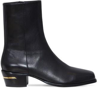 Amiri Leather Square Toe Boots