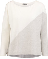 Alice + Olivia Abbie Two-Tone Wool-Blend Sweater